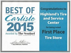 Best Tire Shop of Carlisle, PA 2015